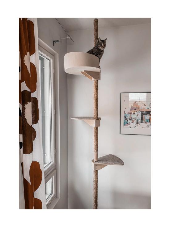 Kissapuu - Kissan Onni kiipeily- ja raapimispuu, koivu & beige   Stockmann - photo 7