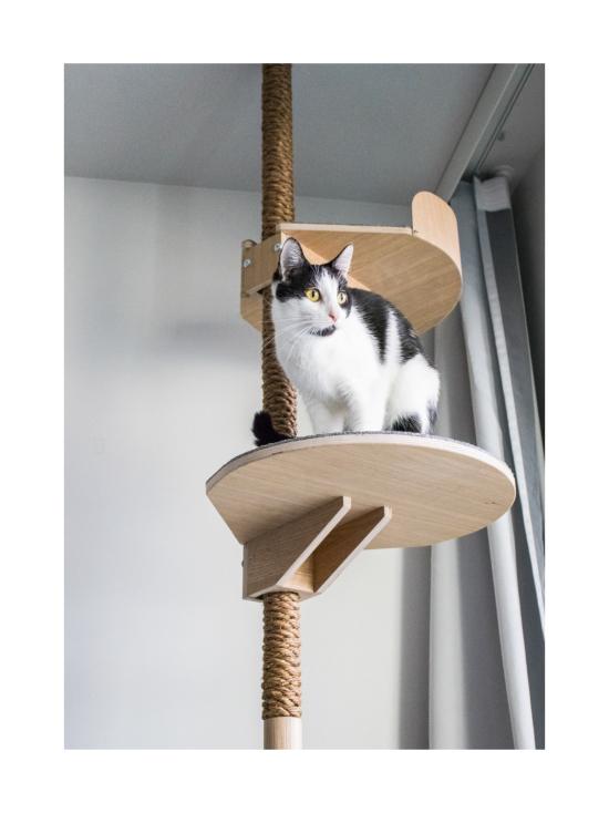 Kissapuu - Kissan Onni kiipeily- ja raapimispuu, tammi & harmaa   Stockmann - photo 9