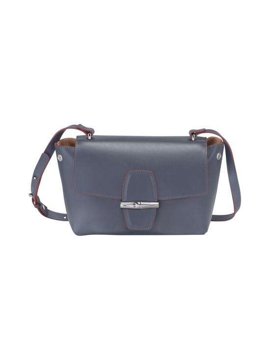 Longchamp - Roseau Box Crossbody Bag - Nahkalaukku - GUN METAL   Stockmann - photo 2