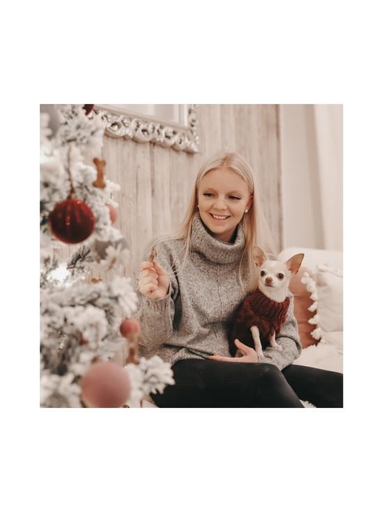 PAIKKA - Handmade Knit Sweater Burgundy - BURGUNDY   Stockmann - photo 3