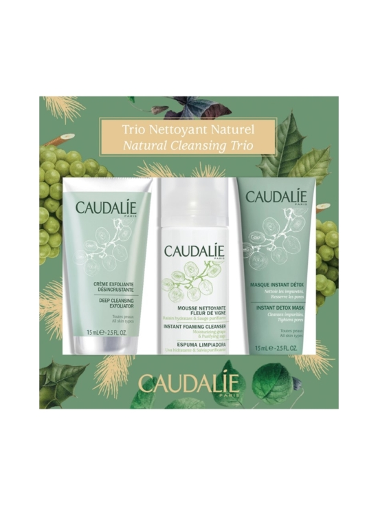 Caudalíe - Natural Cleansing Trio -matkapakkaus (50ml+15ml+15ml) | Stockmann - photo 1