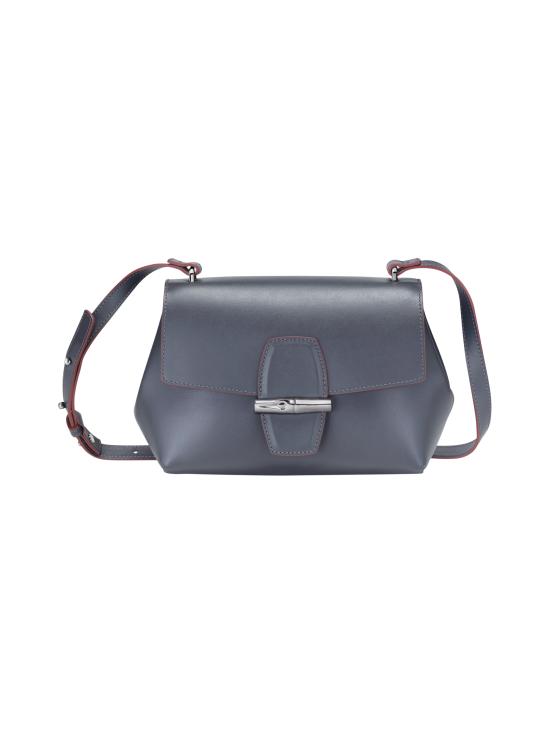Longchamp - Roseau Box Crossbody Bag - Nahkalaukku - GUN METAL   Stockmann - photo 1