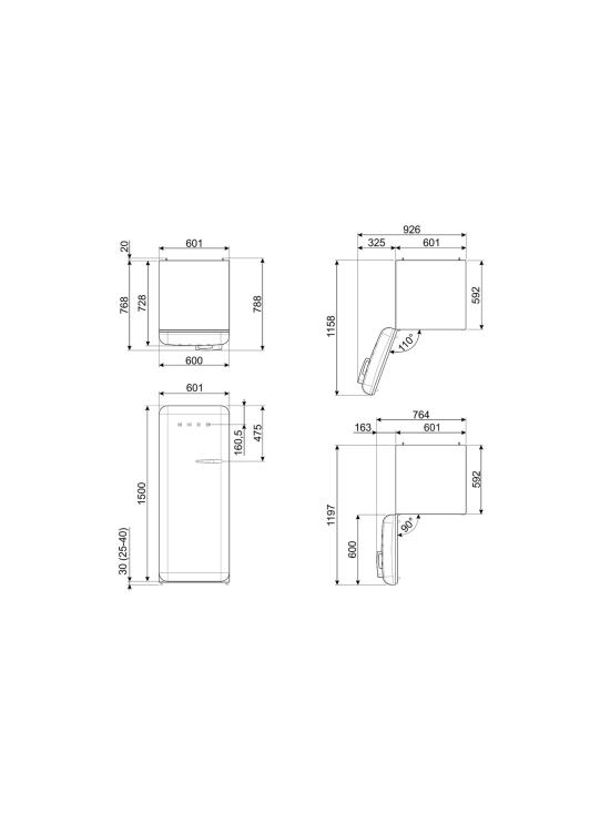 Smeg - FAB28LCR5 Jääkaappi, kerma vasenkätinen | Stockmann - photo 10