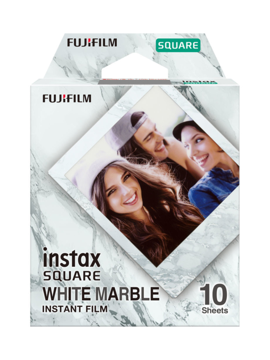 Fujifilm - Fujifilm Instax Film Square (10 kuvaa) pikafilmi - White Marble   Stockmann - photo 1