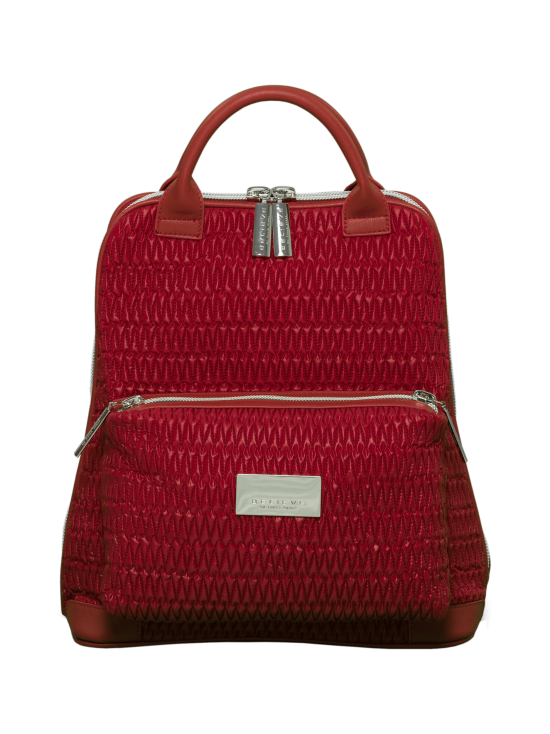 BELIEVE by tuula rossi - CITY Deep Red Stretch Tikkikangas Reppu - DEEP RED, PUNAINEN   Stockmann - photo 1