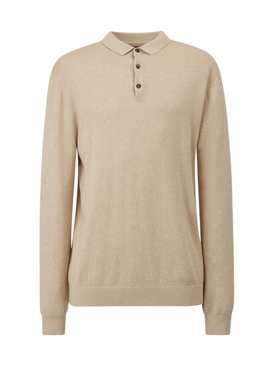 Riley Cotton/Cashmere Blend Knitted Polo