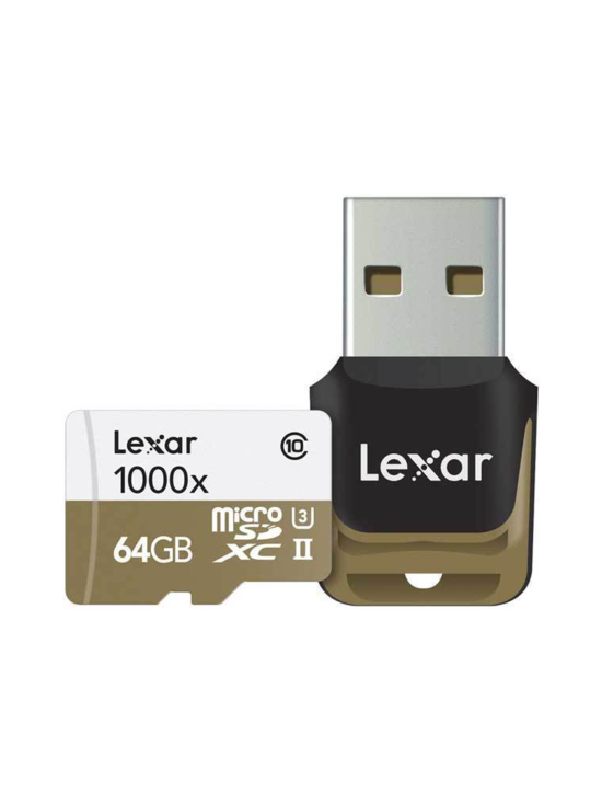 Lexar - Lexar Professional 64GB microSDXC UHS-II (1000x) + Kortinlukija | Stockmann - photo 1