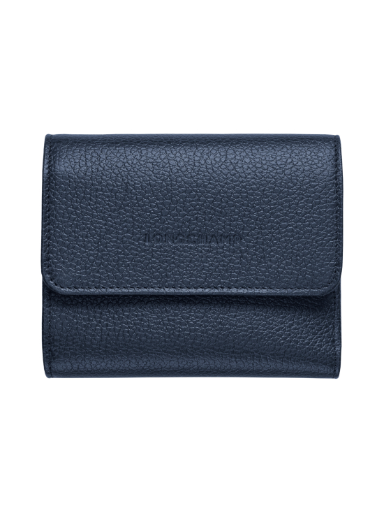 Longchamp - Le Foulonné – Compact Wallet – Nahkalompakko - NAVY | Stockmann - photo 1