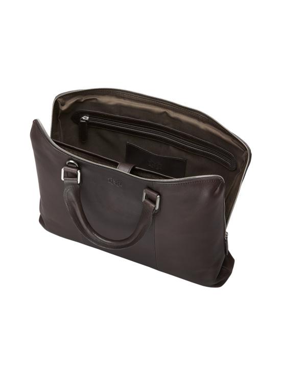MMV Bags - Luton Briefcase -nahkasalkku - CHOCOLATE (TUMMANRUSKEA) | Stockmann - photo 4