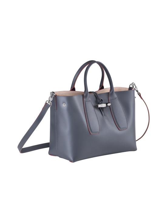 Longchamp - Roseau Box - Top Handle Bag M - Nahkalaukku - GUN METAL | Stockmann - photo 3
