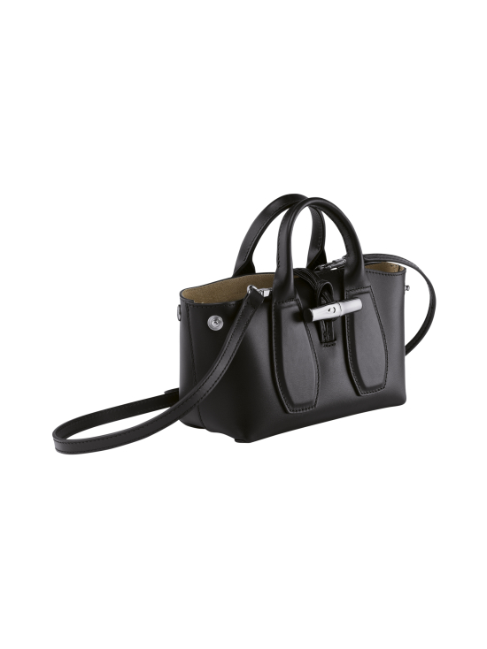 Longchamp - Roseau Box Top handle bag XS - Nahkalaukku - BLACK   Stockmann - photo 3