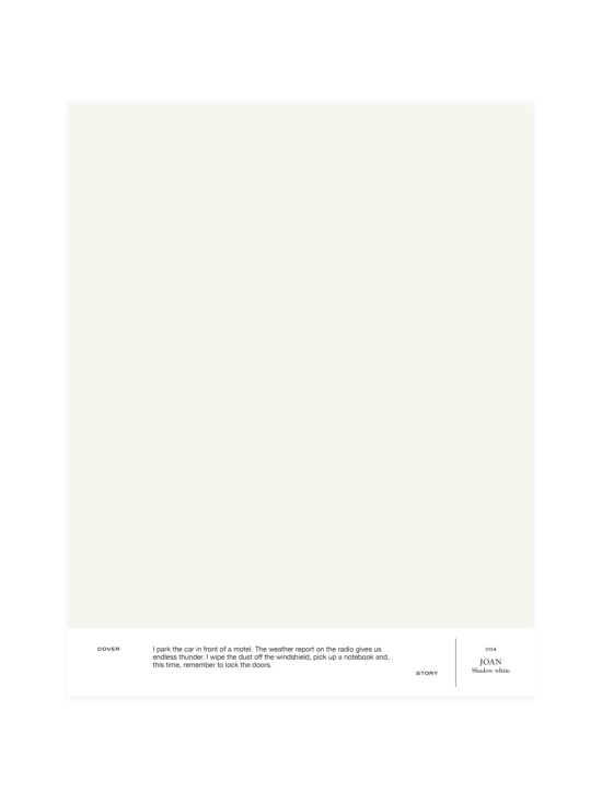 Cover Story - Sävymalli 004 JOAN - shadow white | Stockmann - photo 1