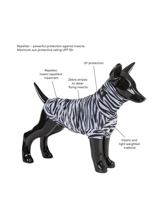PAIKKA - UV & Bug Shirt - Repeltec for Dogs - ZEBRA   Stockmann - photo 2