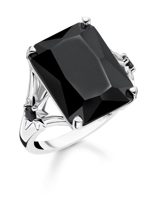 Thomas Sabo - Thomas Sabo Ring Black Stone, Large, with Star -sormus   Stockmann - photo 1