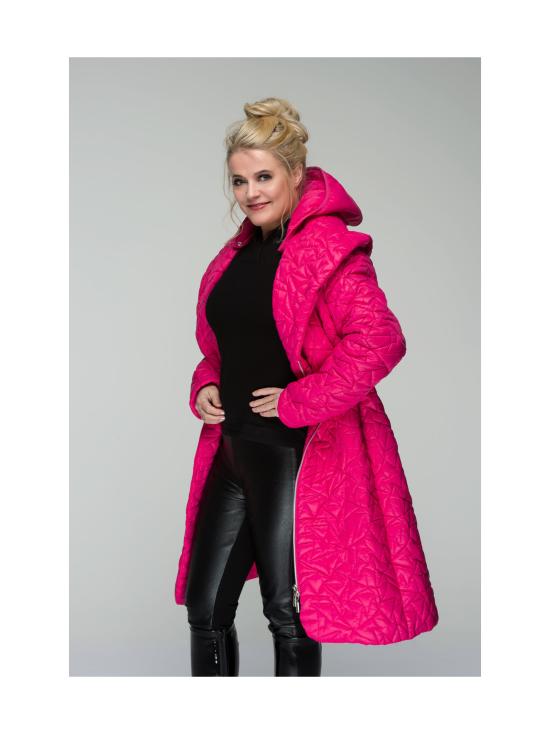 BELIEVE by tuula rossi - TIFFANY Pink Shaali Kaulus Tikattu Takki Irrotettavalla Hupulla - PINK, PINKKI | Stockmann - photo 4
