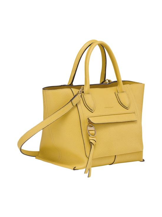 Longchamp - Mailbox Top Handle Bag M - Nahkalaukku - YELLOW | Stockmann - photo 2