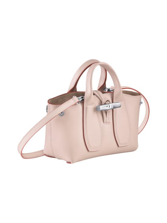 Longchamp - Roseau Box Top handle bag XS - Nahkalaukku - POWDER | Stockmann - photo 3