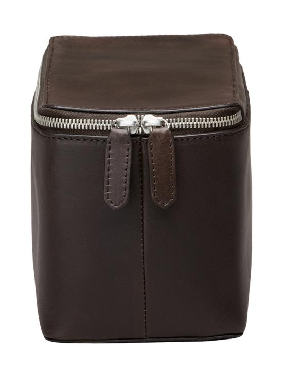 MMV Bags - Luton Leather Washbag -toilettilaukku - CHOCOLATE (TUMMANRUSKEA) | Stockmann - photo 3
