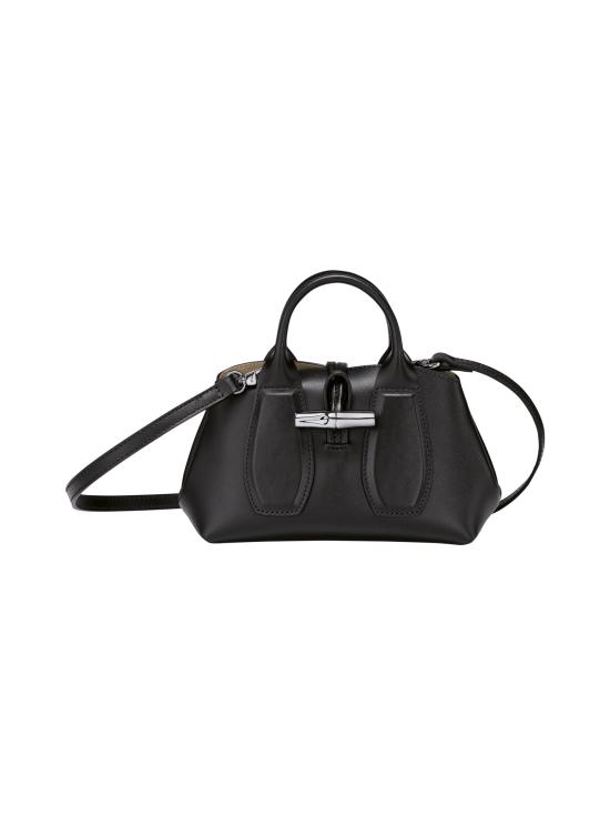Longchamp - Roseau Box Top handle bag XS - Nahkalaukku - BLACK   Stockmann - photo 1