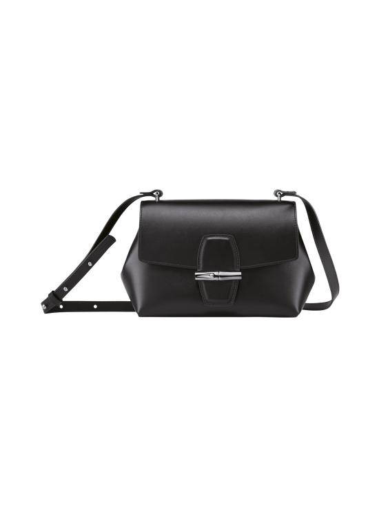 Longchamp - Roseau Box Crossbody Bag - Nahkalaukku - BLACK   Stockmann - photo 1