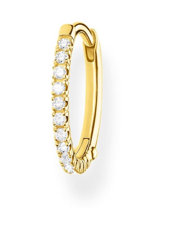 Thomas Sabo - Thomas Sabo Single Hoop Earring White Stones Gold -korvakoru | Stockmann - photo 1