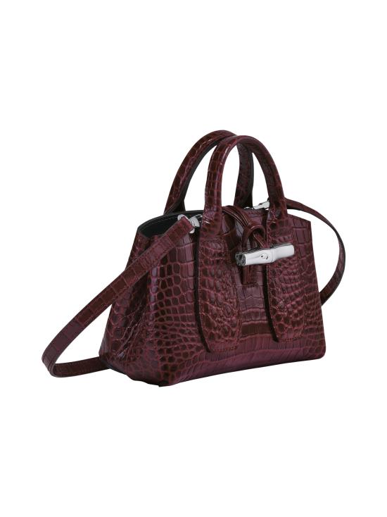 Longchamp - Roseau Croco - Top handle bag XS - Nahkalaukku - BURGUNDY   Stockmann - photo 3