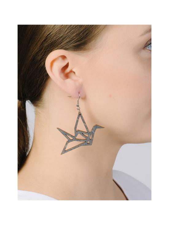 YO ZEN - Origami Swan -minikorvakorut, musta puu - MUSTA | Stockmann - photo 2