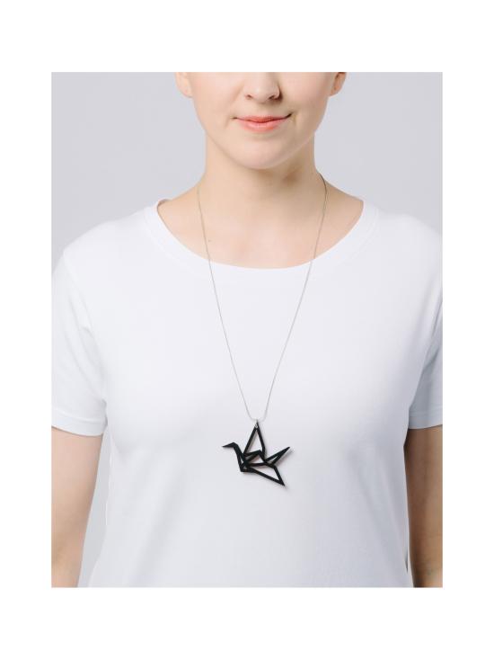 YO ZEN - Origami Swan -kaulakoru, musta puu - MUSTA | Stockmann - photo 2