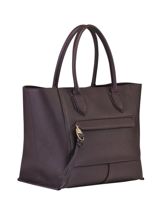 Longchamp - Mailbox Top Handle Bag L - Nahkalaukku - AUBERGINE | Stockmann - photo 2