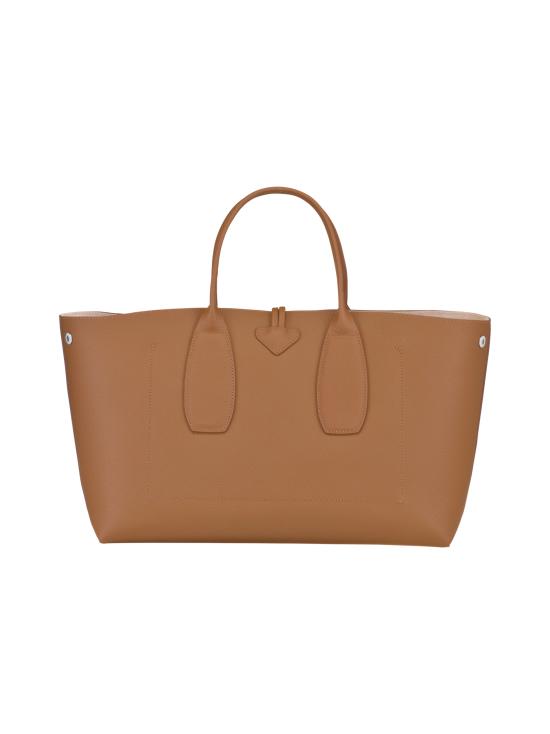 Longchamp - Roseau Top Handle Bag L - Nahkalaukku - NATURAL   Stockmann - photo 4