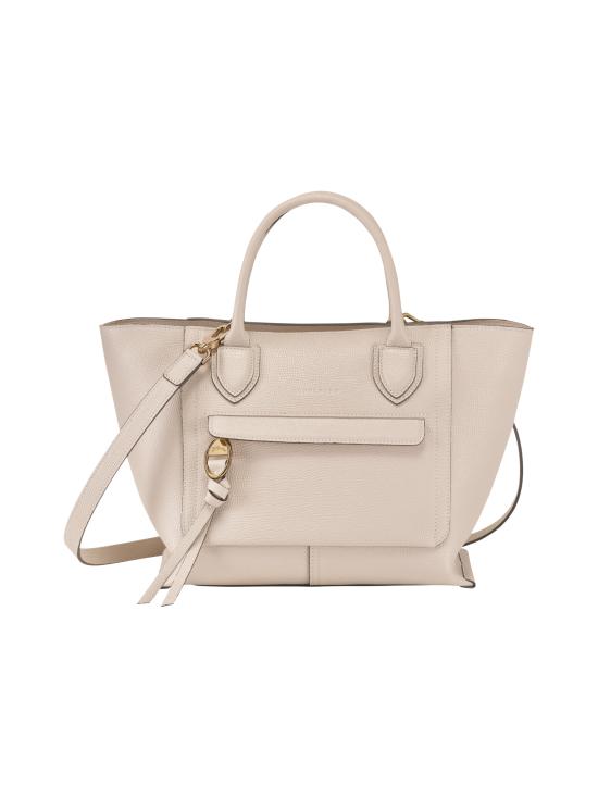 Longchamp - Mailbox Top Handle Bag M - Nahkalaukku - CHALK   Stockmann - photo 1