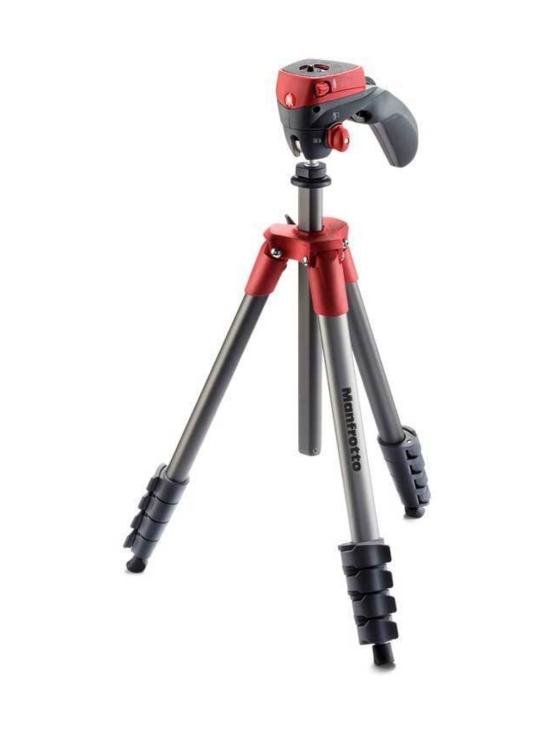 Manfrotto - Manfrotto Compact Action jalusta + kamerapää - Punainen | Stockmann - photo 1