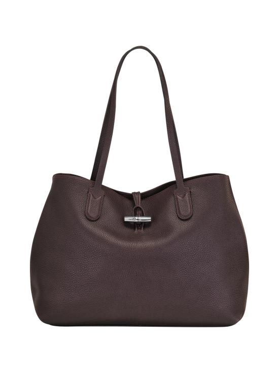 Longchamp - Roseau Essential - Shoulder Bag L - Nahkalaukku - AUBERGINE | Stockmann - photo 2