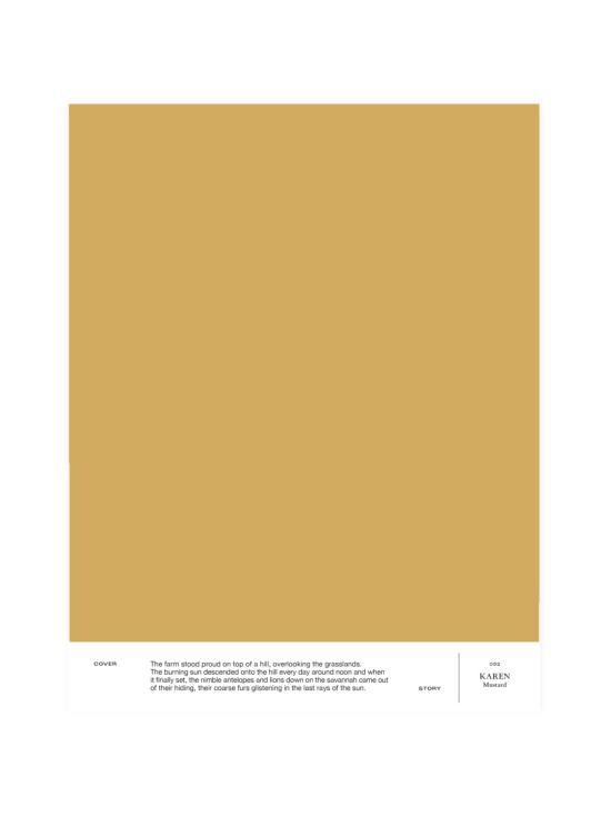 Cover Story - Sävymalli 032 KAREN - mustard | Stockmann - photo 1