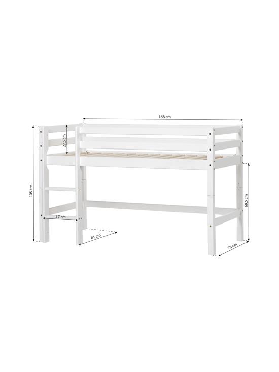 Hoppekids - Hoppekids BASIC puolikorkea sänky 70x160cm, valkoinen - 1 | Stockmann - photo 4
