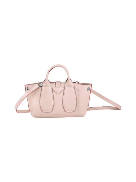 Longchamp - Roseau Box Top handle bag XS - Nahkalaukku - POWDER | Stockmann - photo 4