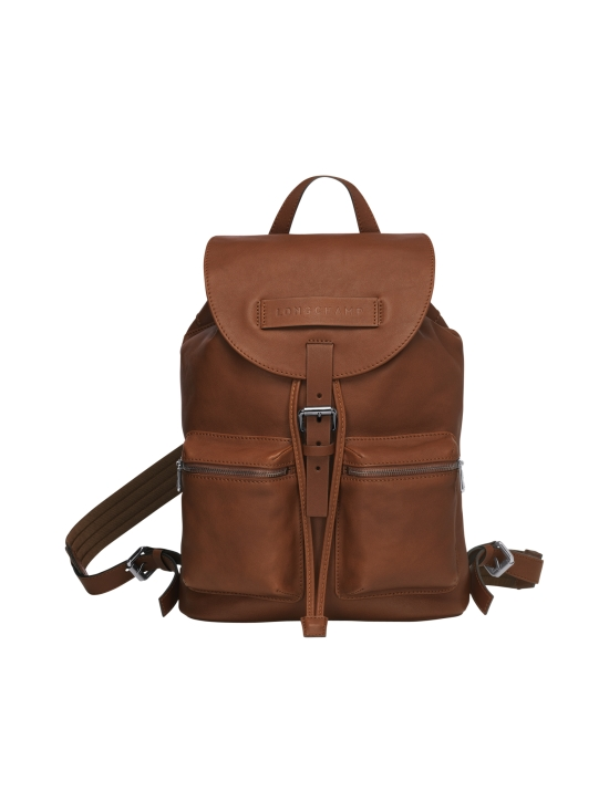 Longchamp - Longchamp 3D - Backpack M - Nahkareppu - COGNAC | Stockmann - photo 1