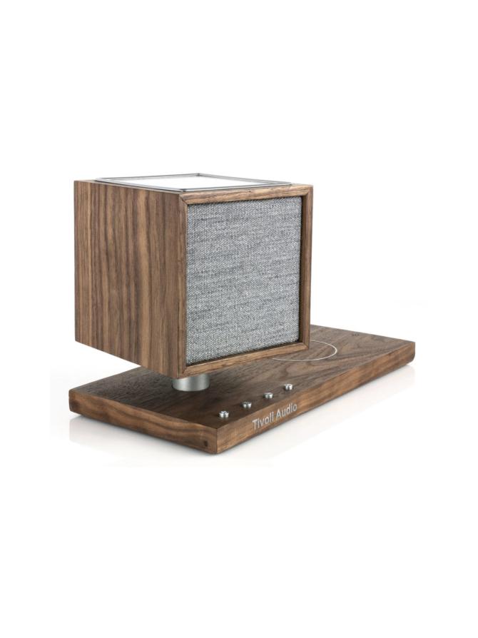 Tivoli Audio Revive Bluetooth-kaiutin, LED-valo ja Qi-laturi, pähkinä