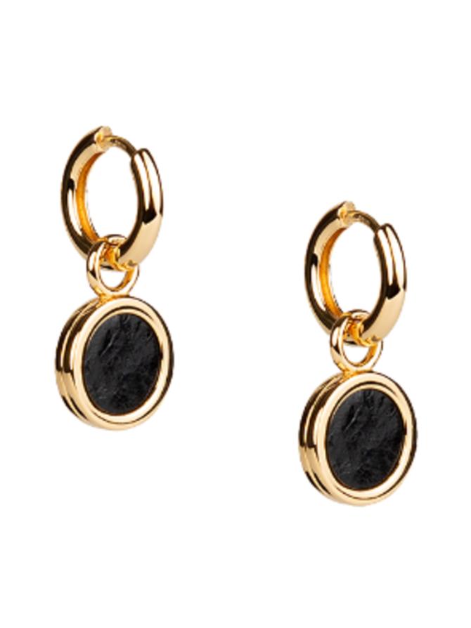 Sisters Earrings, musta/kulta