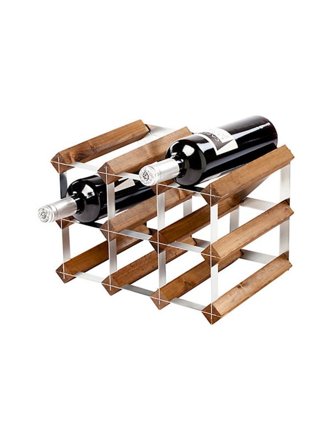 Viinipulloteline 9 pulloa Dark Oak
