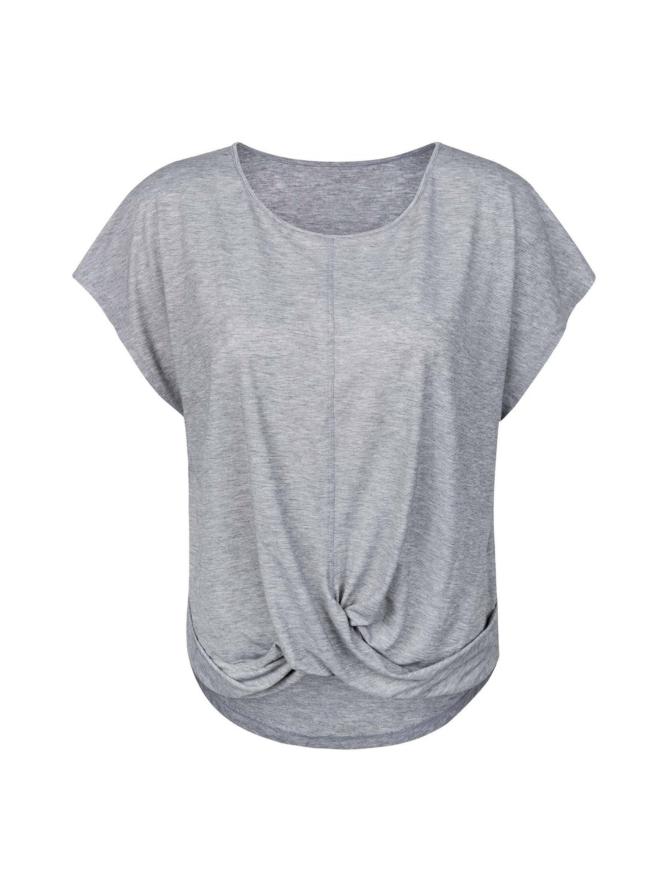 Yvette Molly T-paita, meleerattu harmaa