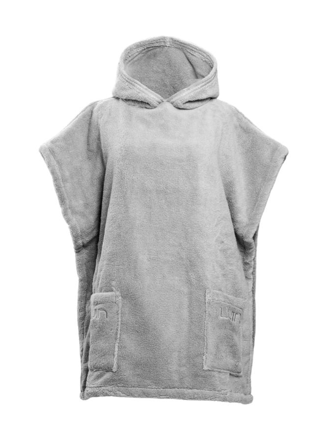 Your Home I Your Spa Casual Poncho Unisex Pearl Grey