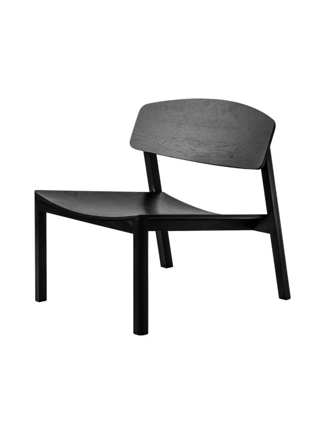 Halikko lounge tuoli musta
