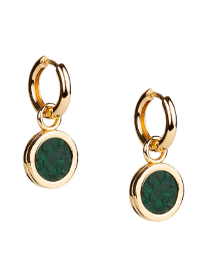 Sisters Earrings, vihreä/kulta