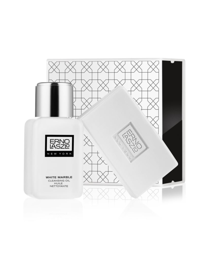 White Marble Cleansing Set -matkapakkaus, 2 tuotetta