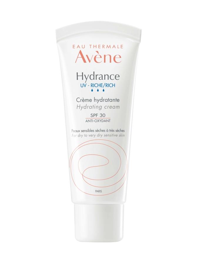 Avène Hydrance UV Rich Hydrating cream SPF 30 -kosteuttava voide kuivalle iholle, 40 ml
