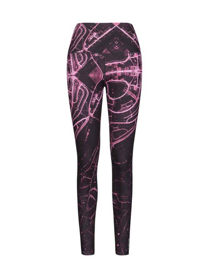 Yvette Manhattan korkeavyötäröinen leggings, monivärinen