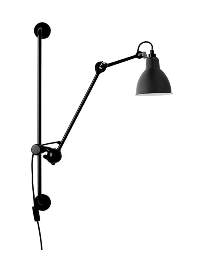 Lampe Gras N°210 seinävalaisin musta, pyöreä varjostin