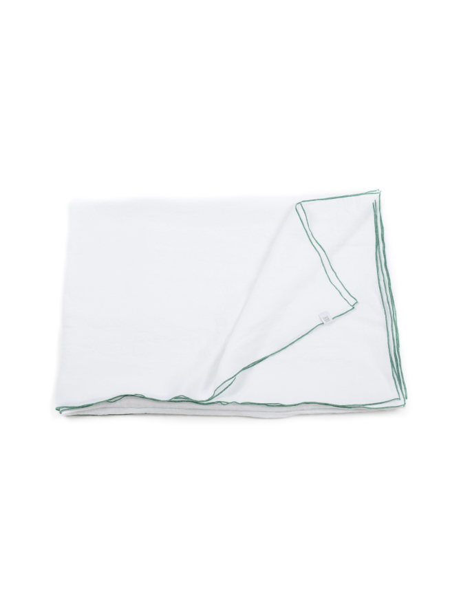 Green Stitching-pellavainen pöytäliina 180 cm x 250 cm