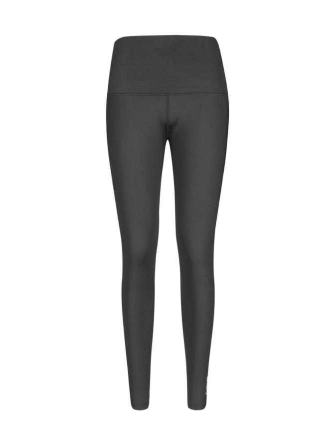 Yvette Black lasten korkeavyötäröinen leggings, musta